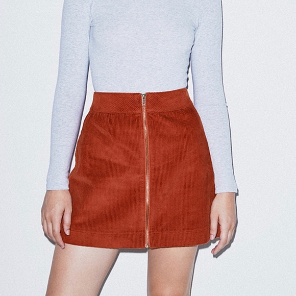 American Apparel Dresses & Skirts - American Apparel Corduroy Zip Skirt